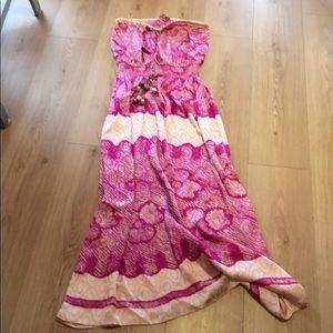 Beautiful Calypso St Barth strapless maxi dress